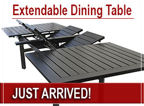 patio extendable dining table